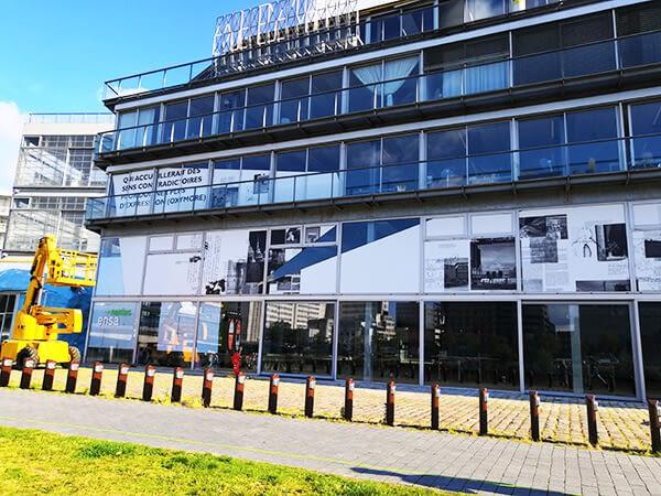 Habillage XXL sur façade d'un bâtiment