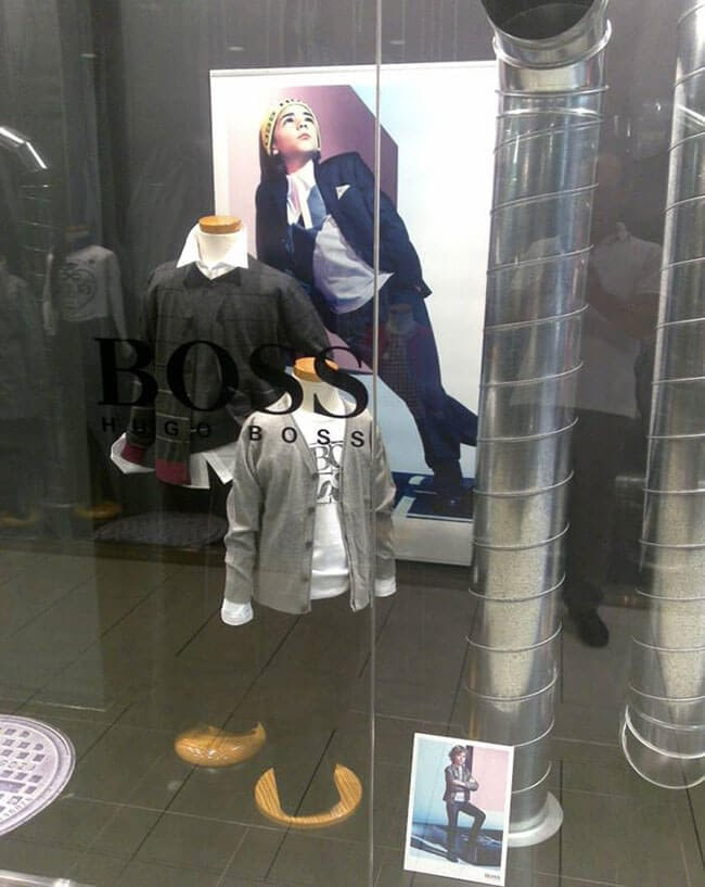 kit vitrine magasin Hugo Boss