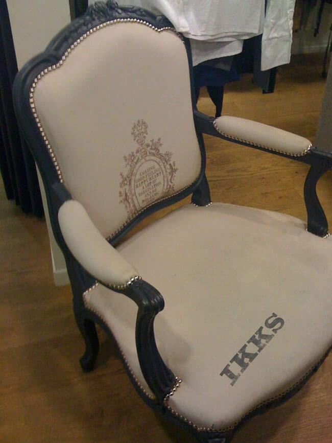 visuel tissu pour fauteuil décoratif