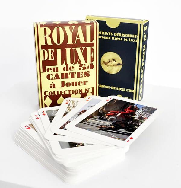 Cartes à jouer avec étuis royal de luxe