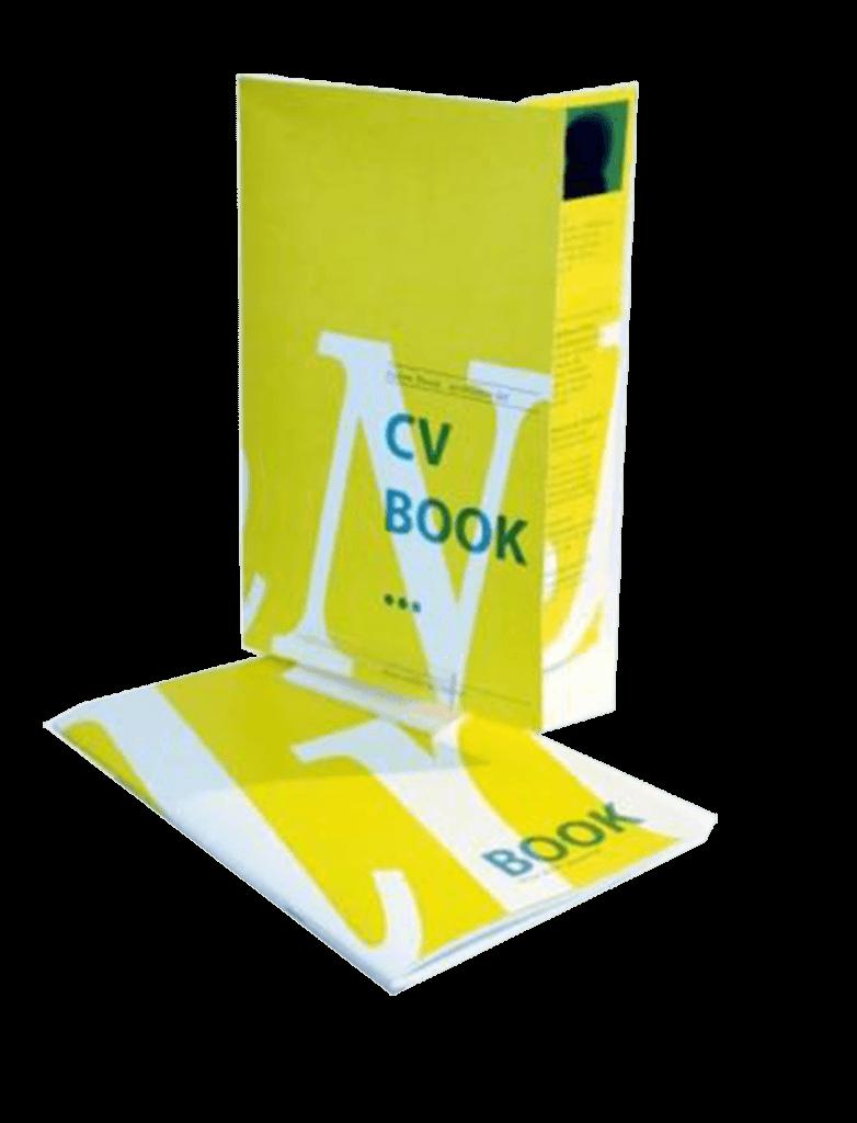 Cv et book portfolio jaune et blanc