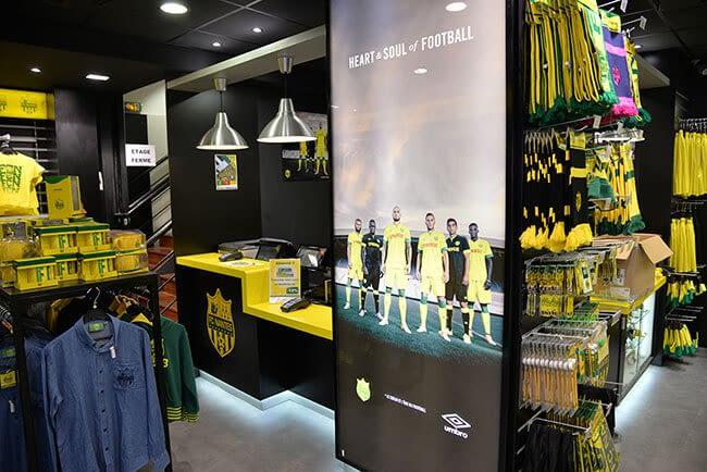 visuel pour caisson lumineux boutique FC Nantes